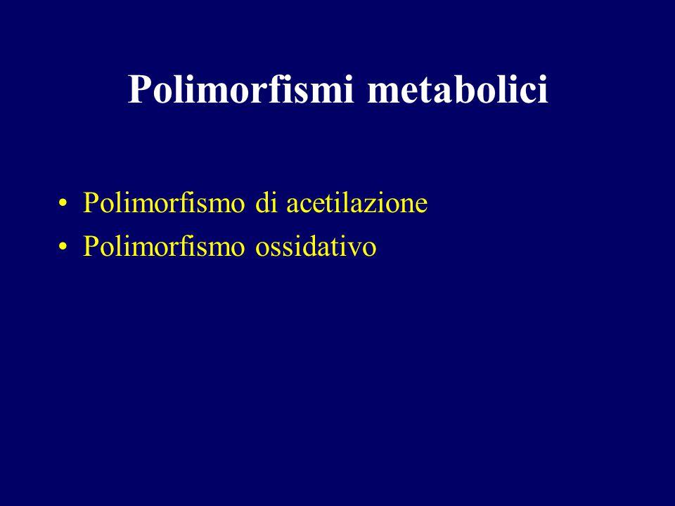 Polimorfismi metabolici