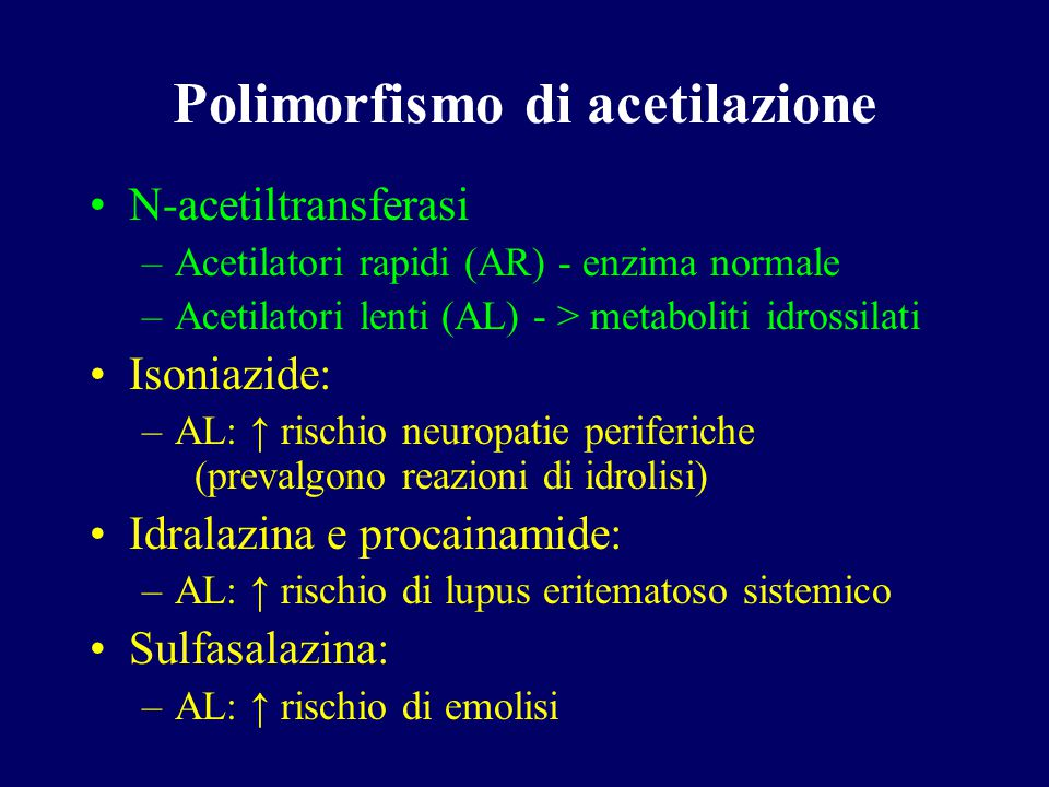 Polimorfismo di acetilazione