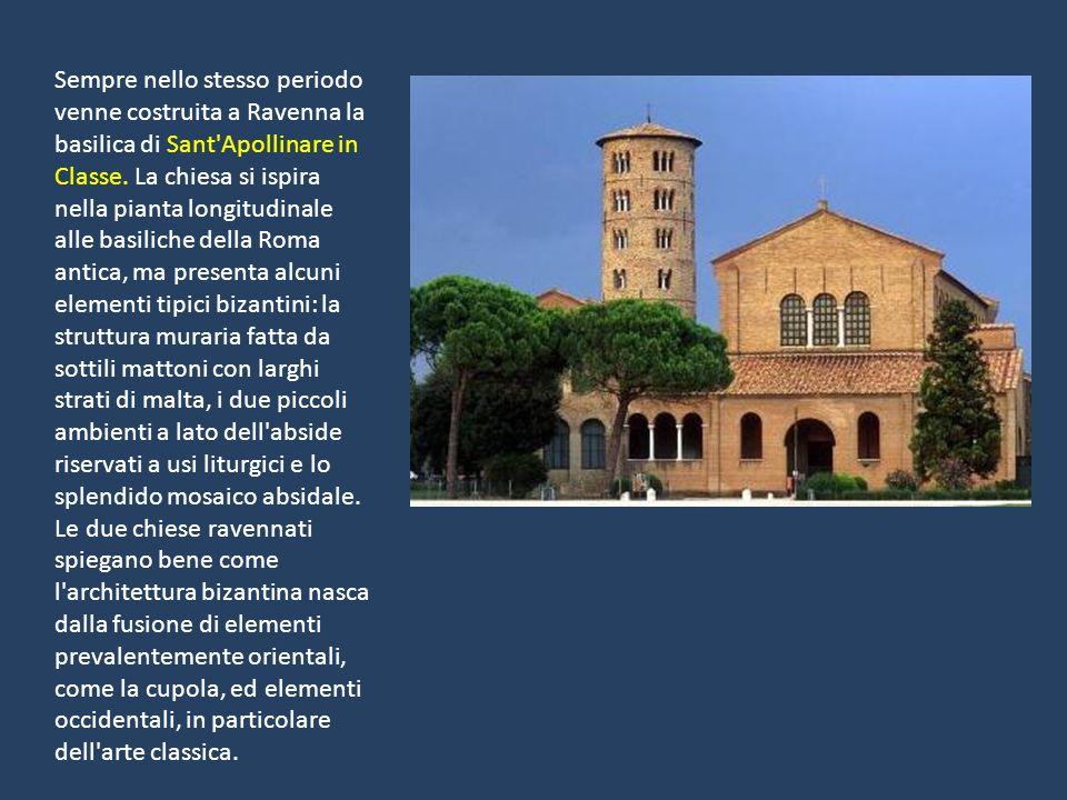 Sempre nello stesso periodo venne costruita a Ravenna la basilica di Sant Apollinare in Classe.