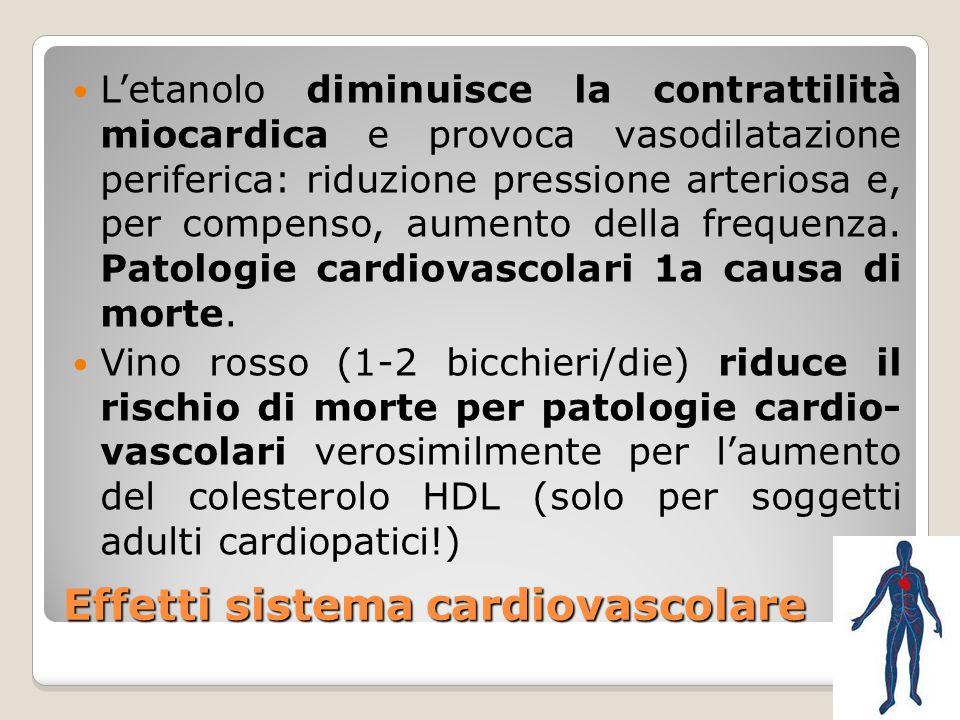 Effetti sistema cardiovascolare