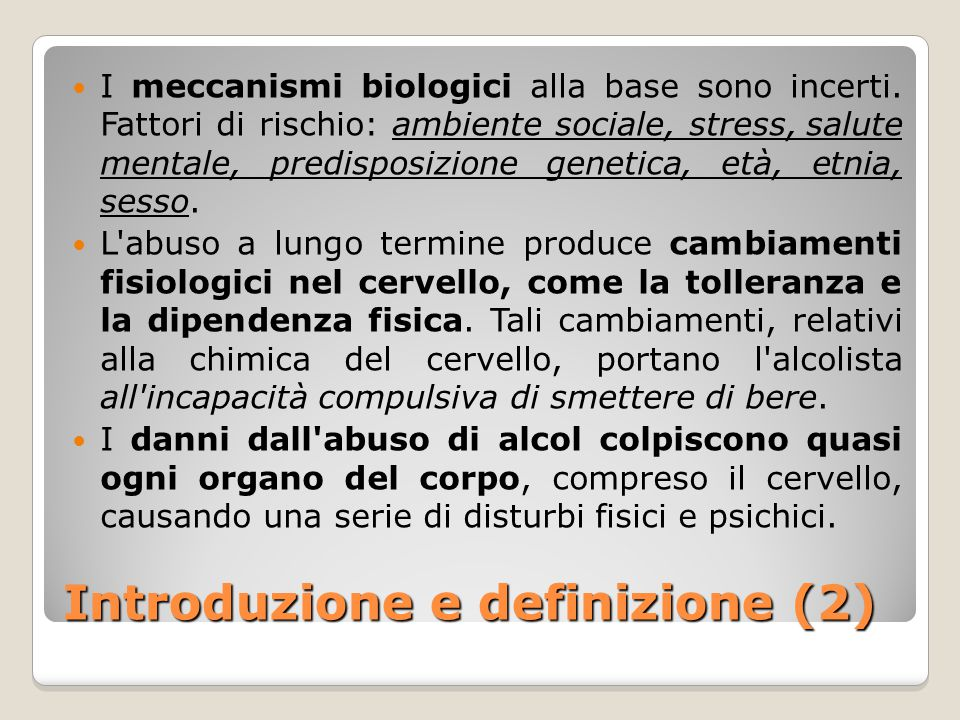 Introduzione e definizione (2)