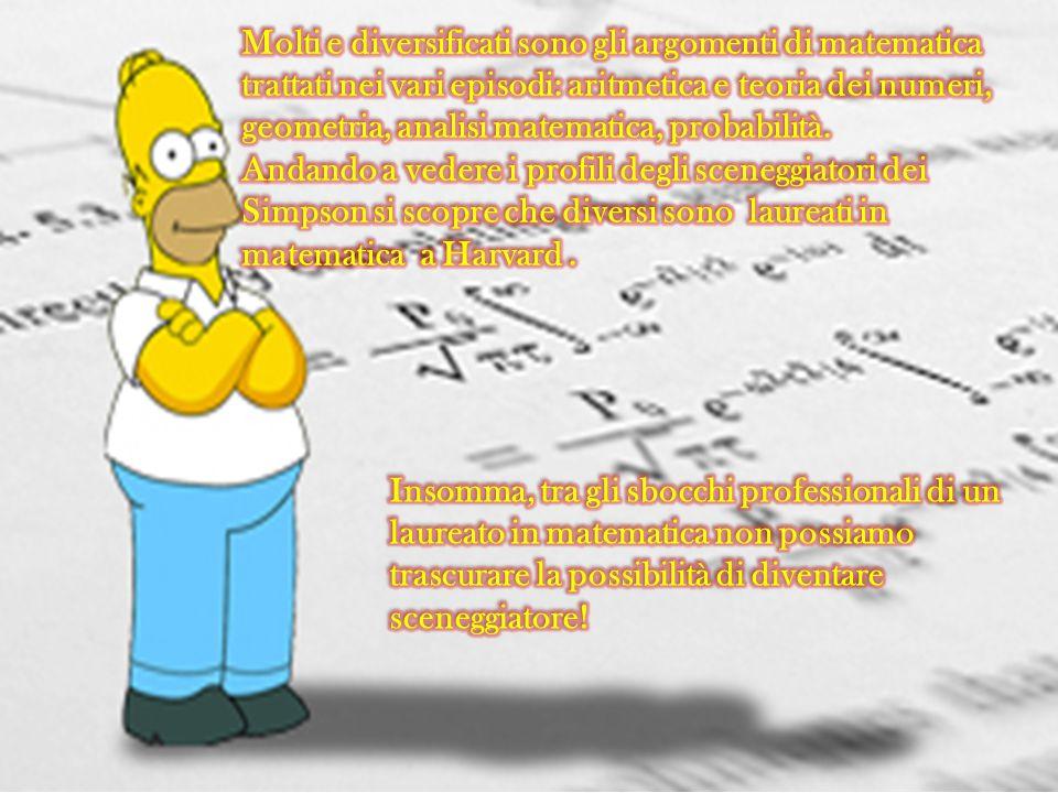 Molti e diversificati sono gli argomenti di matematica trattati nei vari episodi: aritmetica e teoria dei numeri, geometria, analisi matematica, probabilità.