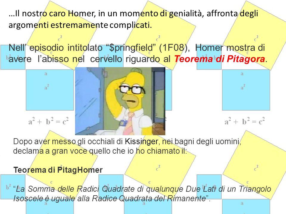…Il nostro caro Homer, in un momento di genialità, affronta degli argomenti estremamente complicati.