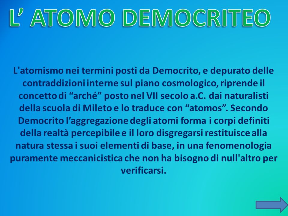 L' ATOMO DEMOCRITEO