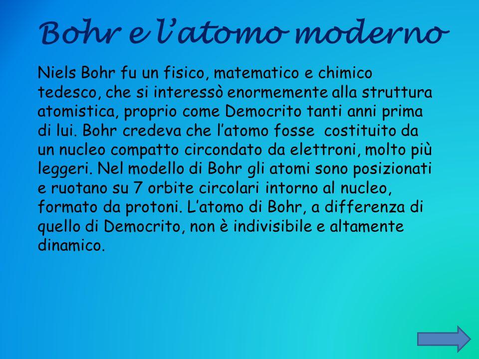 Bohr e l'atomo moderno