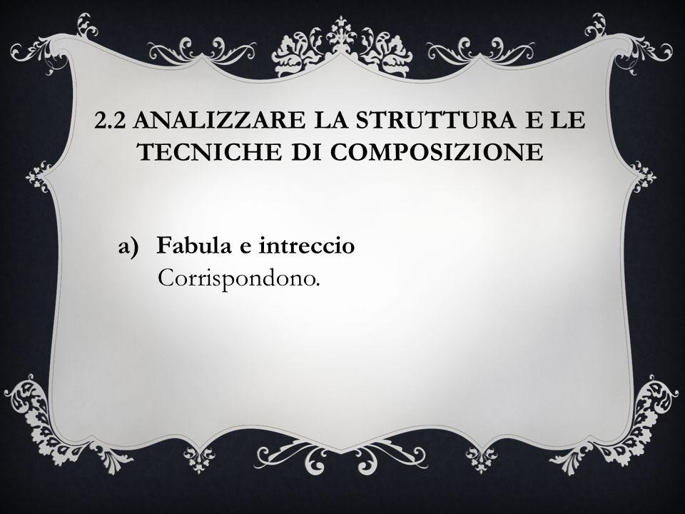 2.2 ANALIZZARE LA STRUTTURA E LE TECNICHE DI COMPOSIZIONE