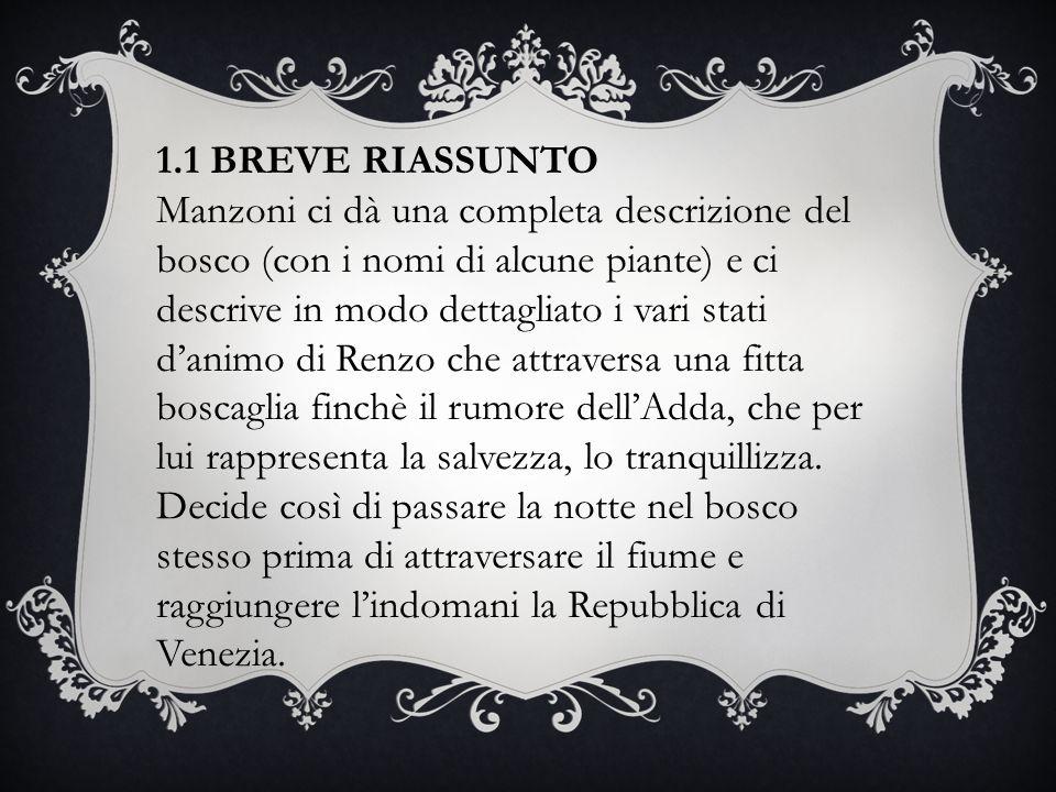 1.1 BREVE RIASSUNTO