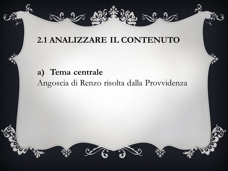 2.1 ANALIZZARE IL CONTENUTO