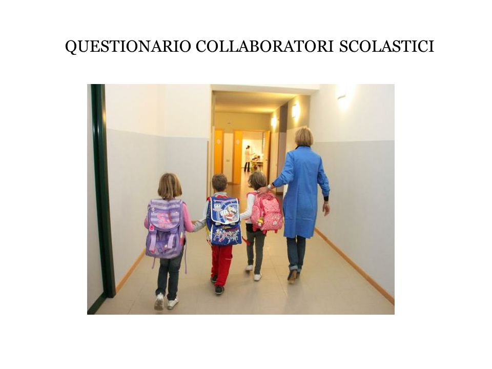 QUESTIONARIO COLLABORATORI SCOLASTICI