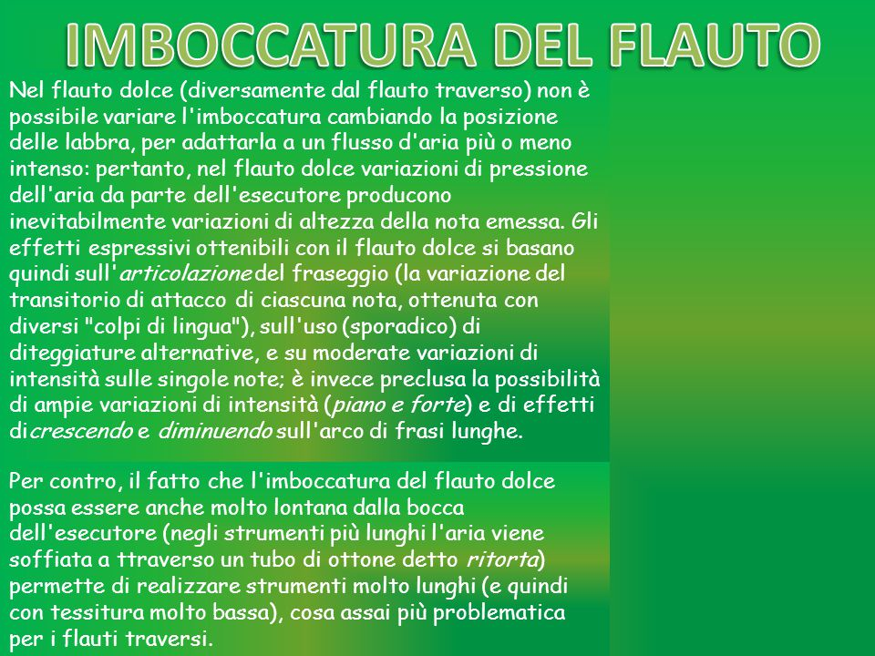 IMBOCCATURA DEL FLAUTO
