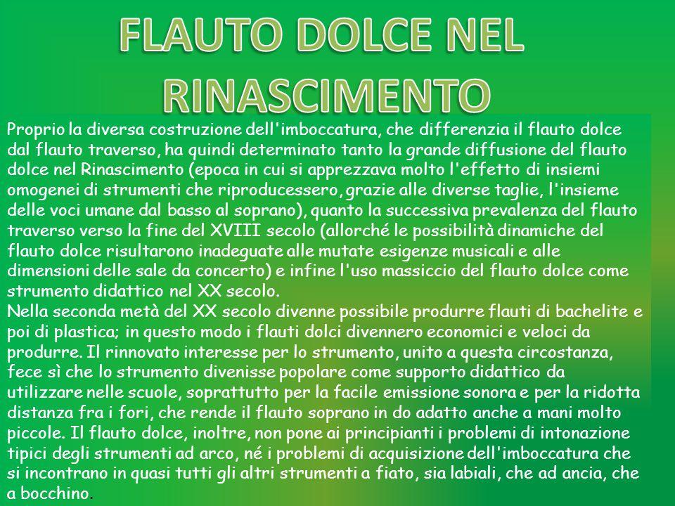FLAUTO DOLCE NEL RINASCIMENTO