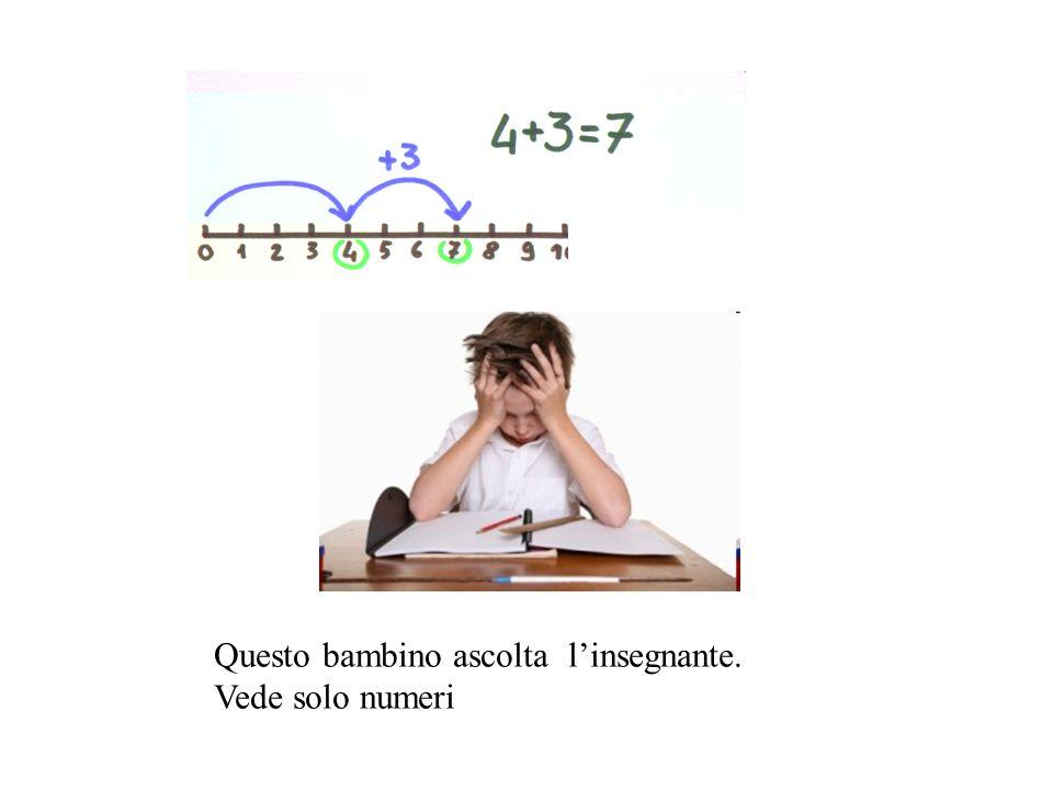 Questo bambino ascolta l'insegnante.