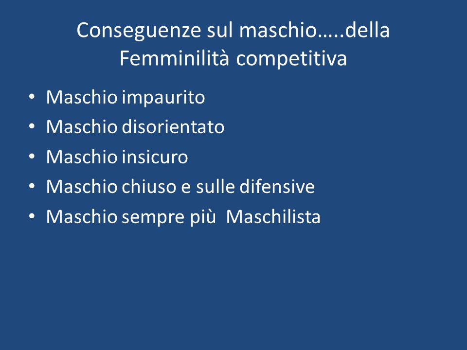 Conseguenze sul maschio…..della Femminilità competitiva