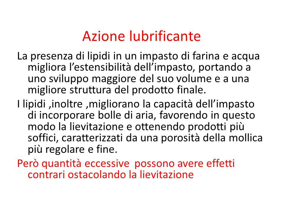 Azione lubrificante
