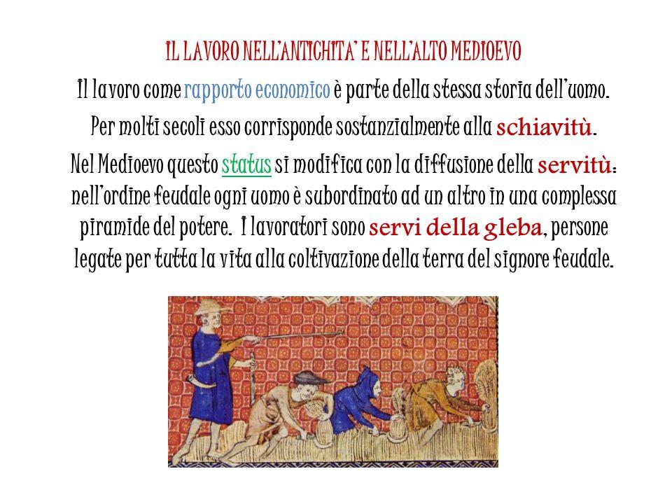 IL LAVORO NELL'ANTICHITA' E NELL'ALTO MEDIOEVO