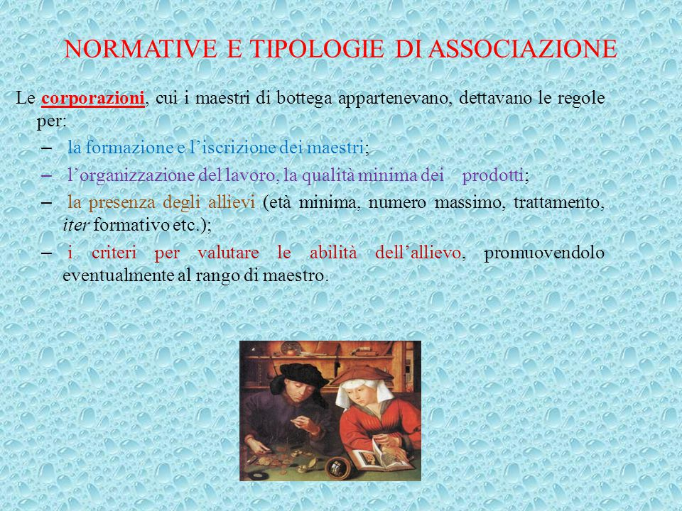 NORMATIVE E TIPOLOGIE DI ASSOCIAZIONE
