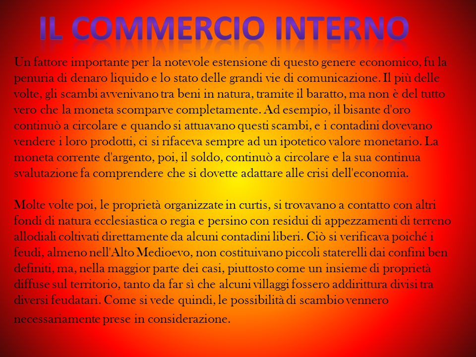 Il commercio interno