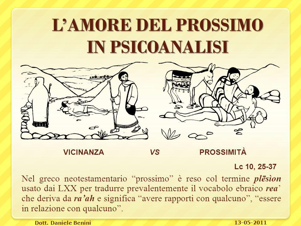 L'AMORE DEL PROSSIMO IN PSICOANALISI