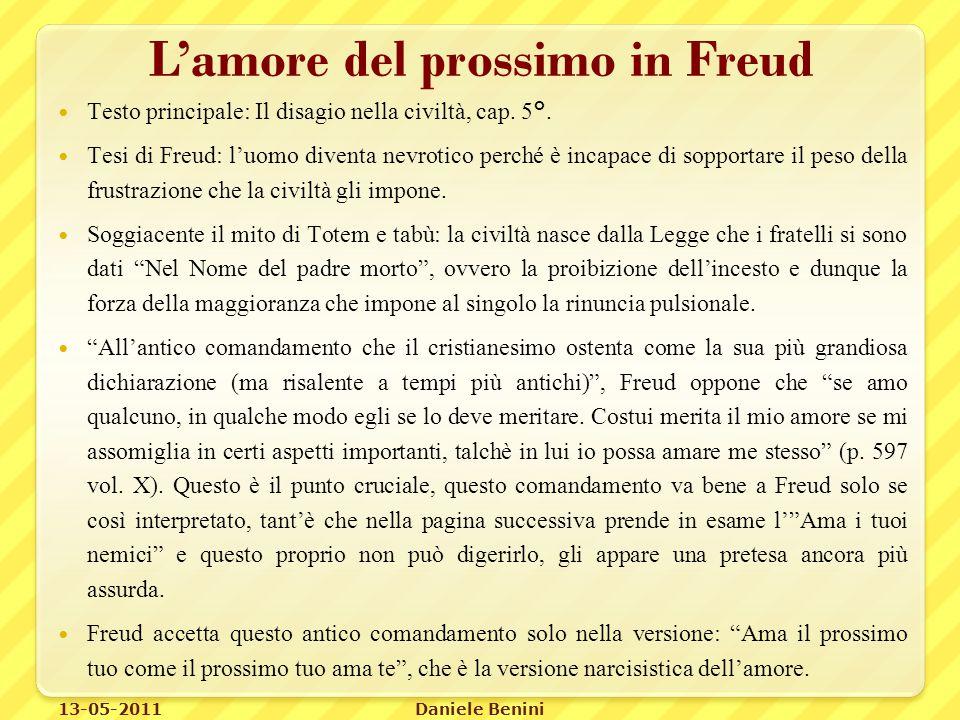 L'amore del prossimo in Freud