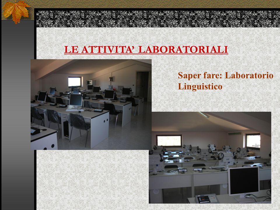 LE ATTIVITA' LABORATORIALI