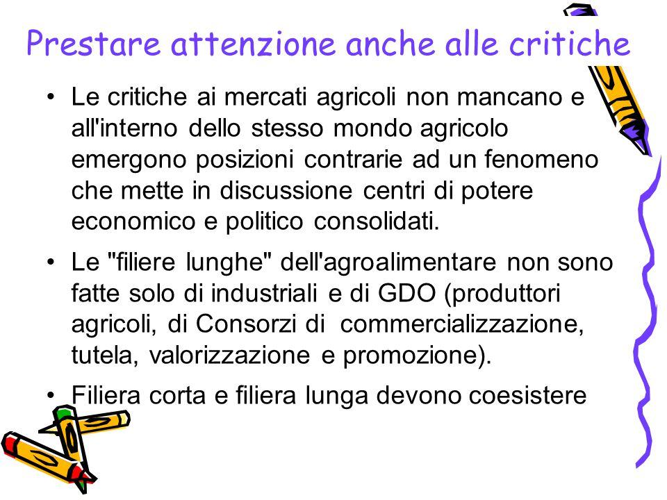Prestare attenzione anche alle critiche