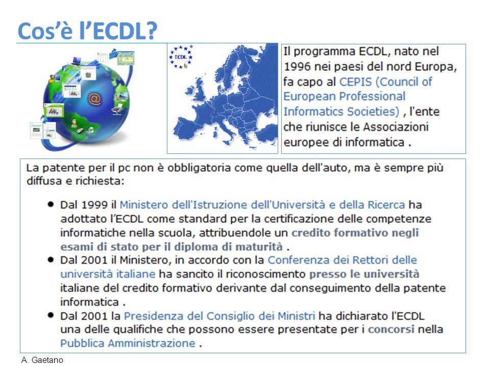 Cos'è l'ECDL A. Gaetano
