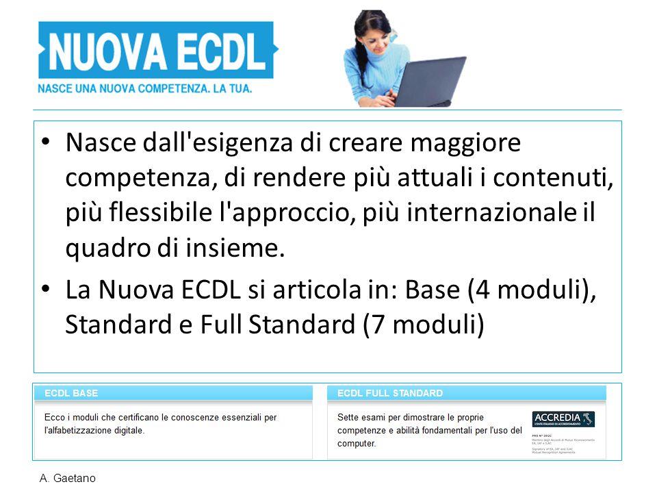 Nasce dall esigenza di creare maggiore competenza, di rendere più attuali i contenuti, più flessibile l approccio, più internazionale il quadro di insieme.
