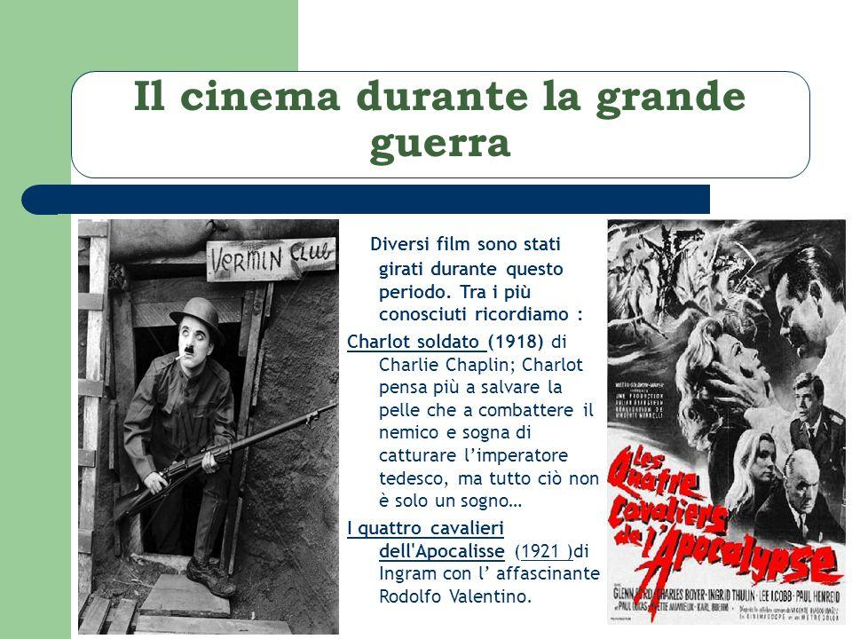 Il cinema durante la grande guerra