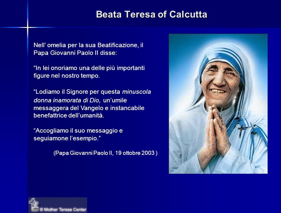 Beata Teresa of Calcutta
