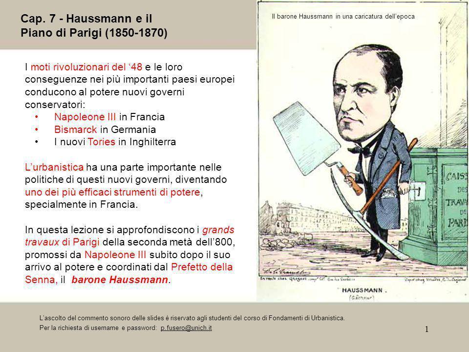Cap. 7 - Haussmann e il Piano di Parigi (1850-1870)