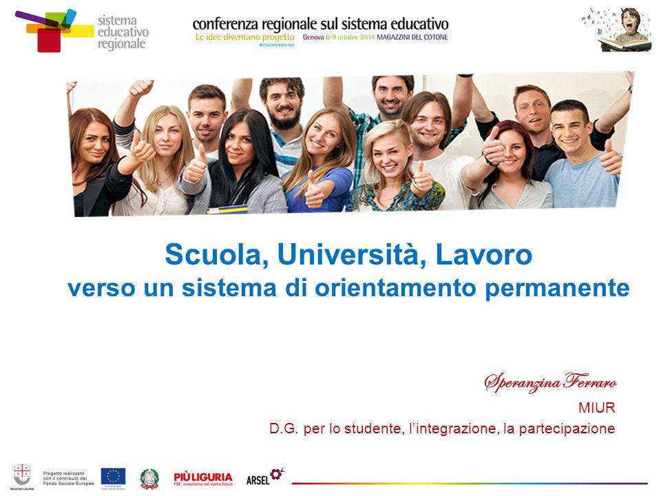 Scuola, Università, Lavoro verso un sistema di orientamento permanente