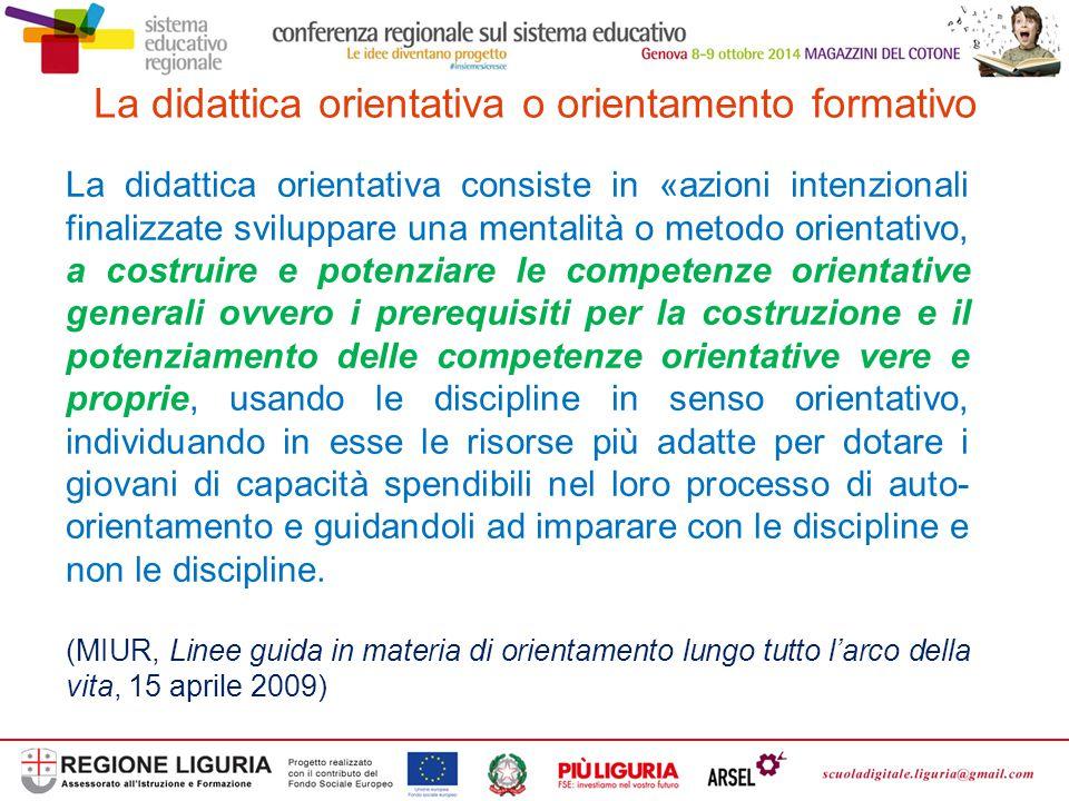La didattica orientativa o orientamento formativo
