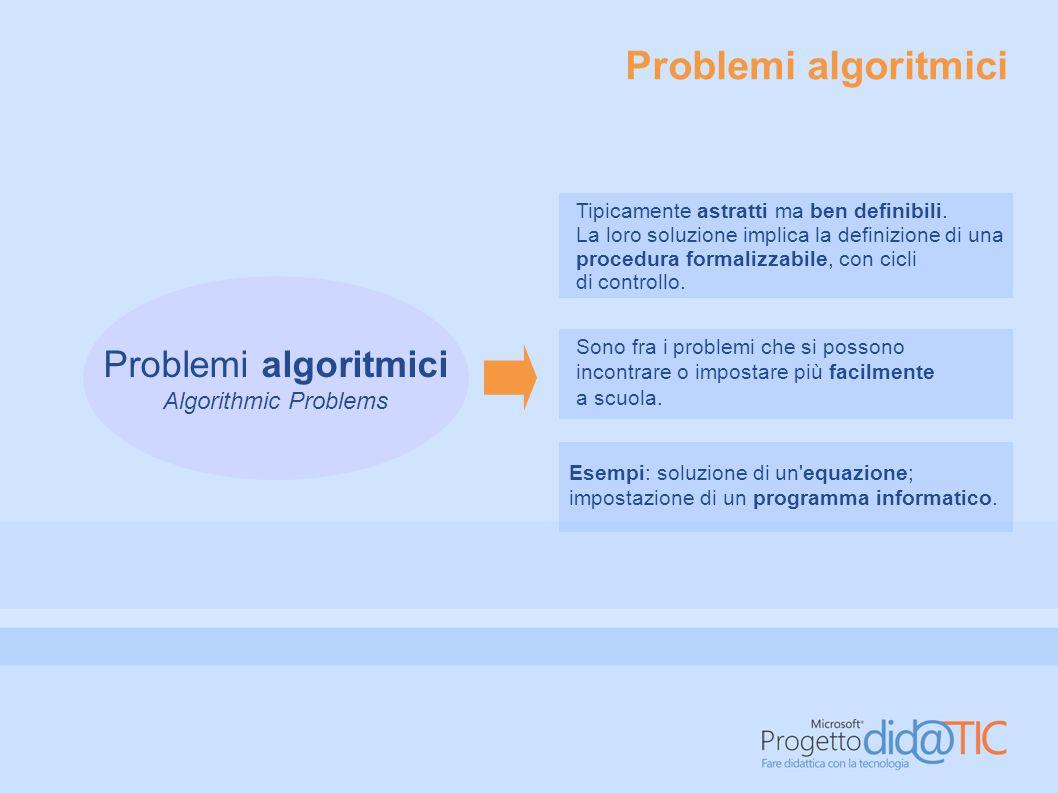 Problemi algoritmici Problemi algoritmici Algorithmic Problems