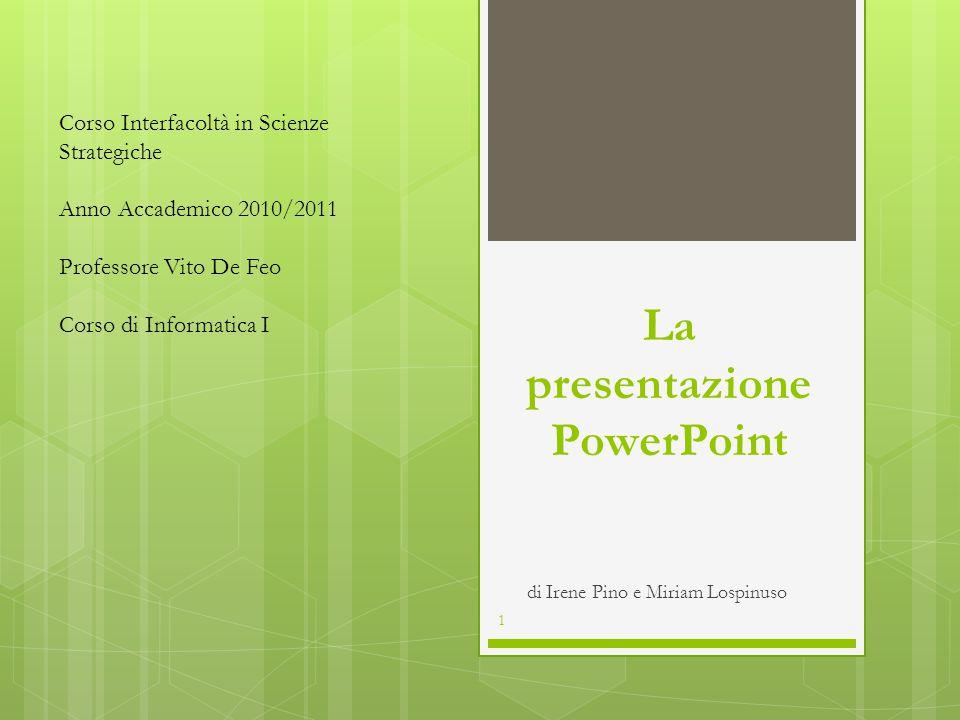 La presentazione PowerPoint