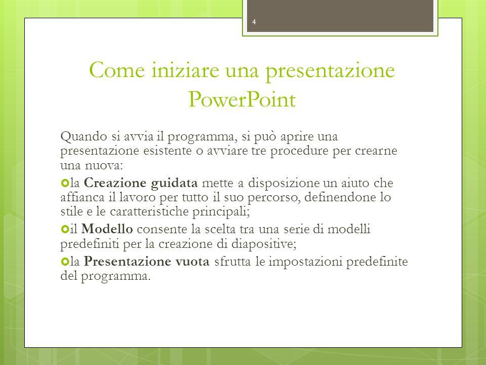 Come iniziare una presentazione PowerPoint