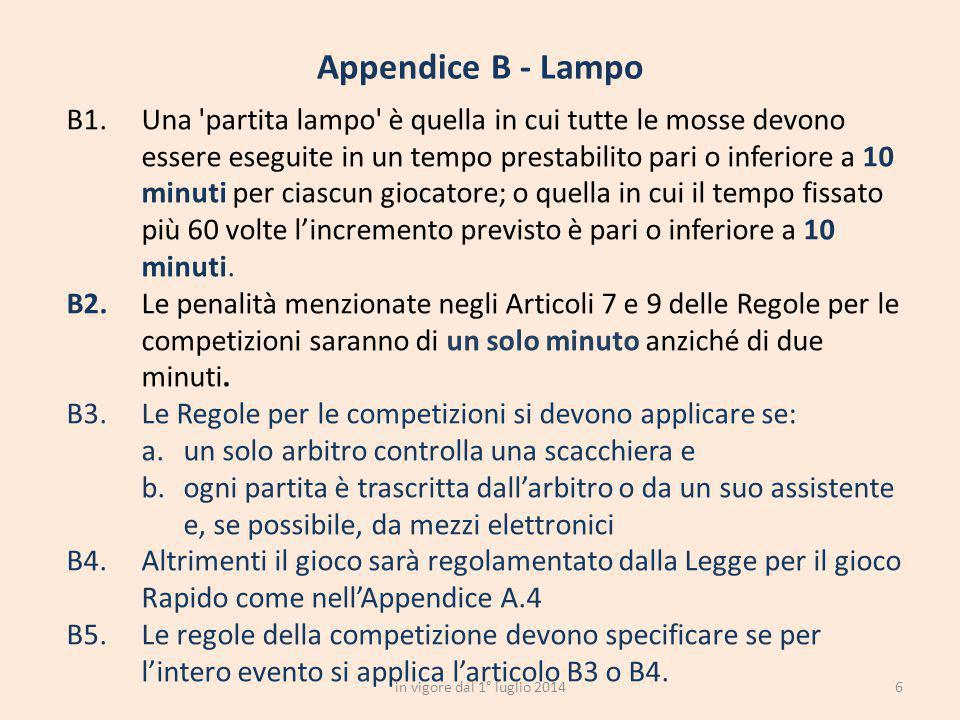 Appendice B - Lampo
