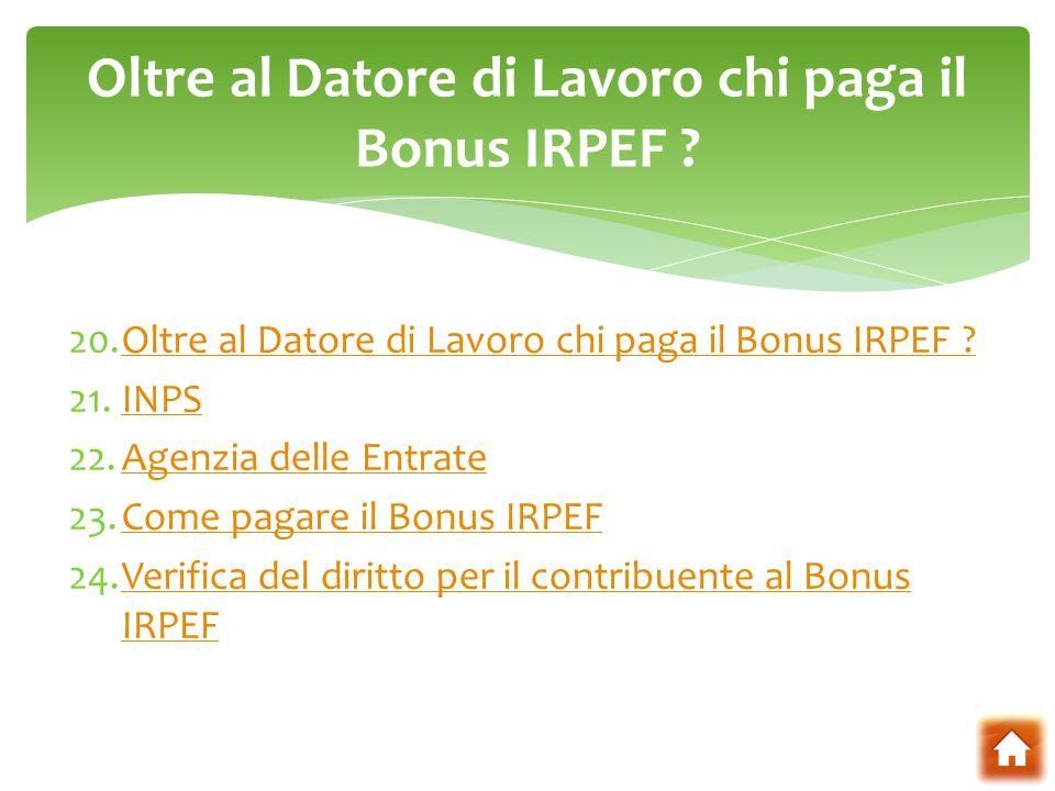 Bonus irpef da 80 euro ppt scaricare for Bonus arredi agenzia entrate