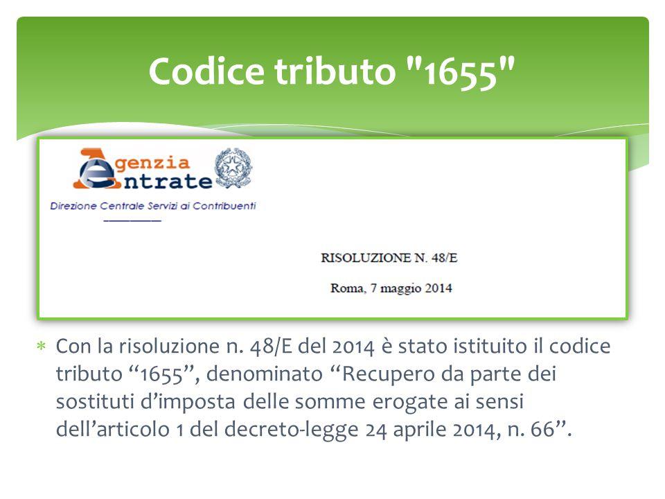 Codice tributo 1655