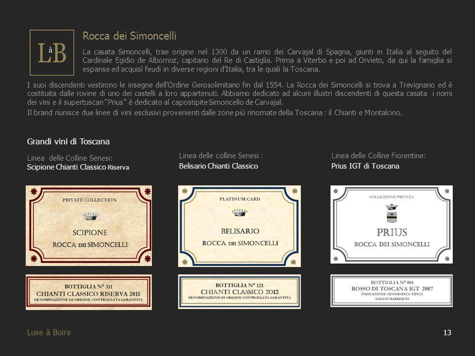 Rocca dei Simoncelli Grandi vini di Toscana Luxe à Boire