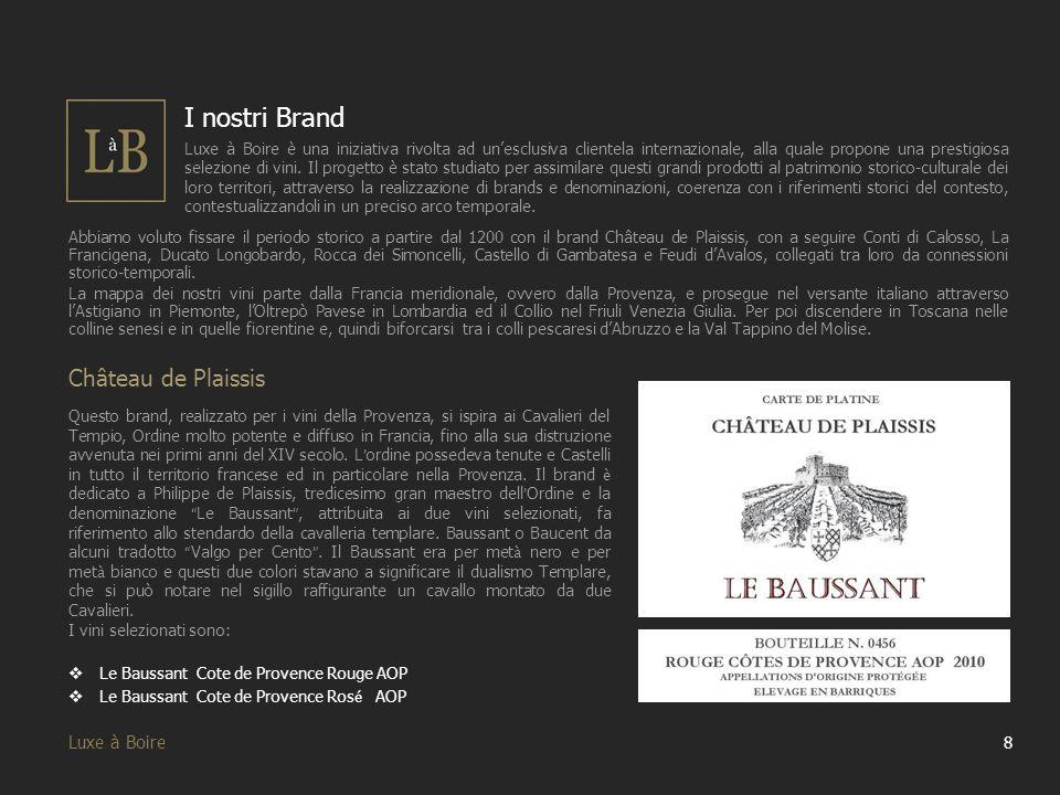 I nostri Brand Château de Plaissis Luxe à Boire