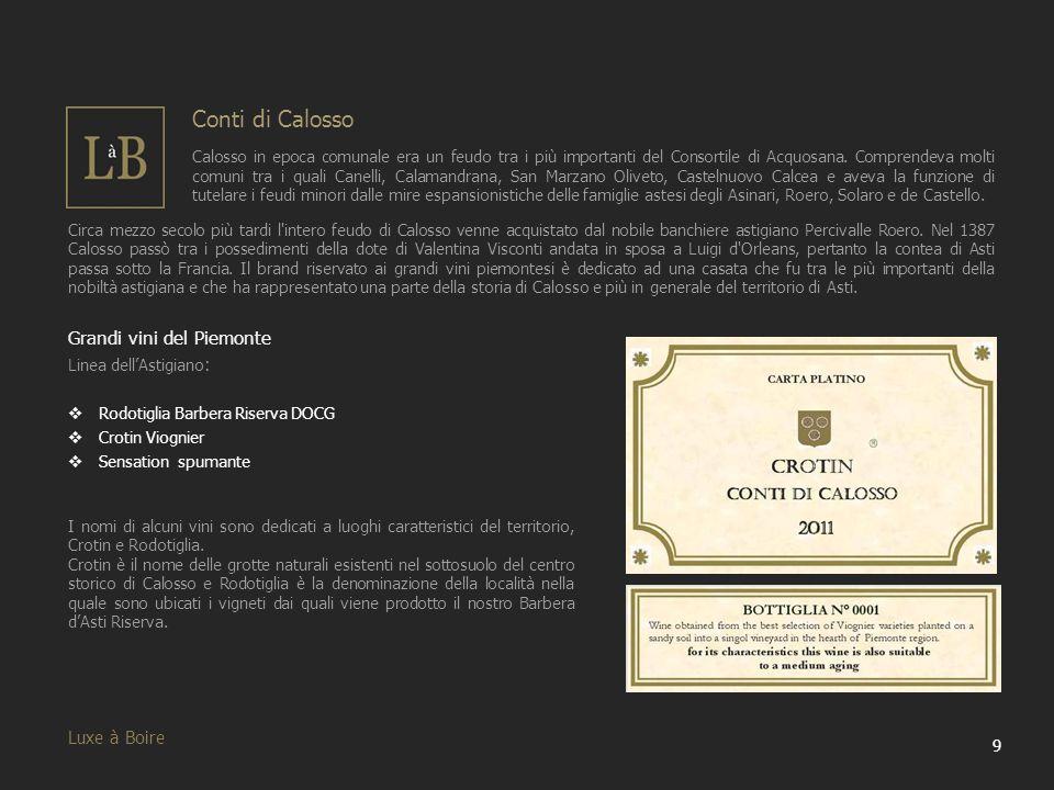 Conti di Calosso Grandi vini del Piemonte Luxe à Boire