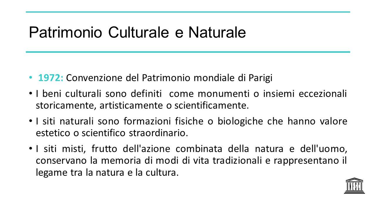 Patrimonio Culturale e Naturale