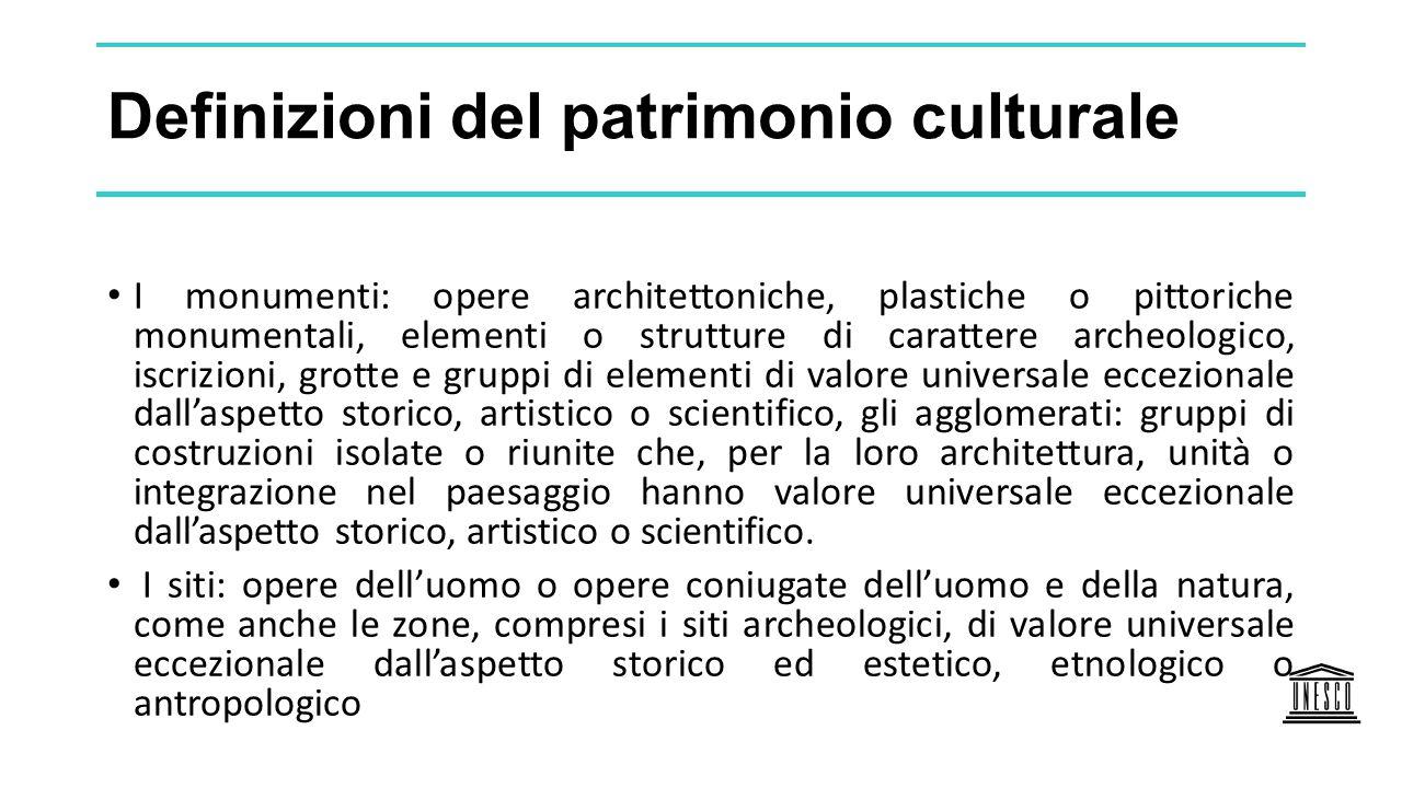 Definizioni del patrimonio culturale