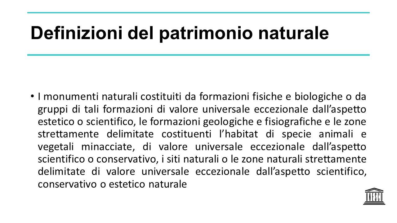 Definizioni del patrimonio naturale