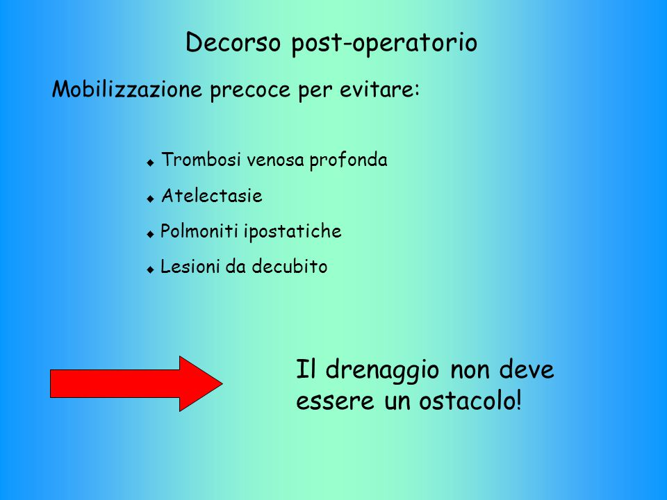 Decorso post-operatorio