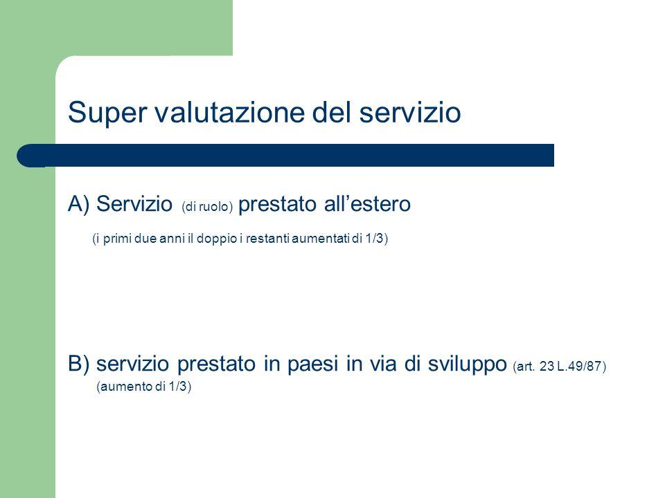 Super valutazione del servizio