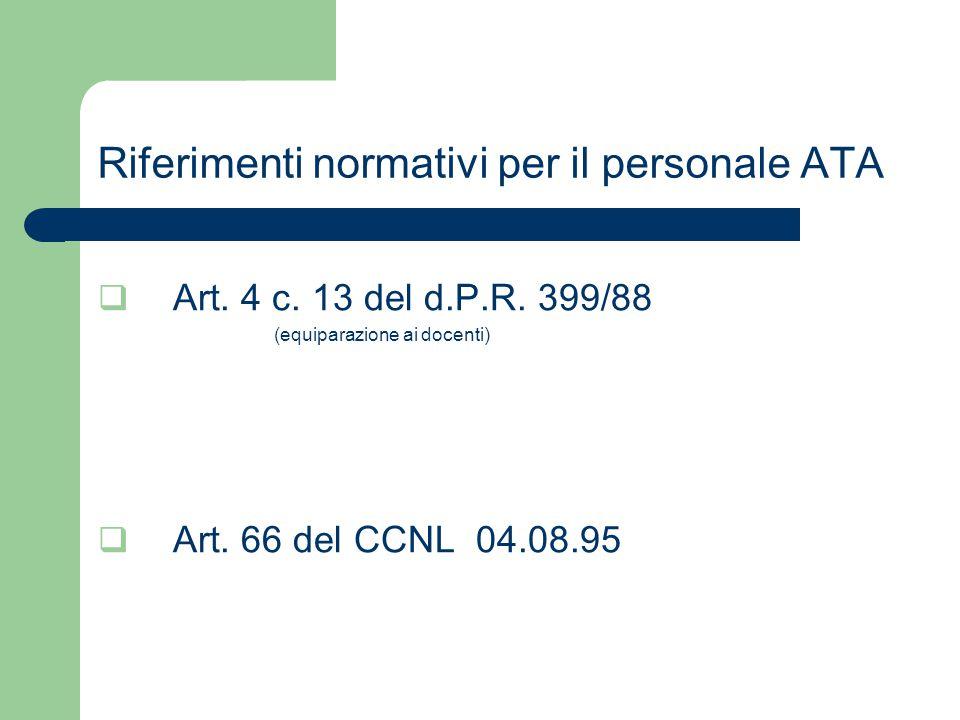 Riferimenti normativi per il personale ATA