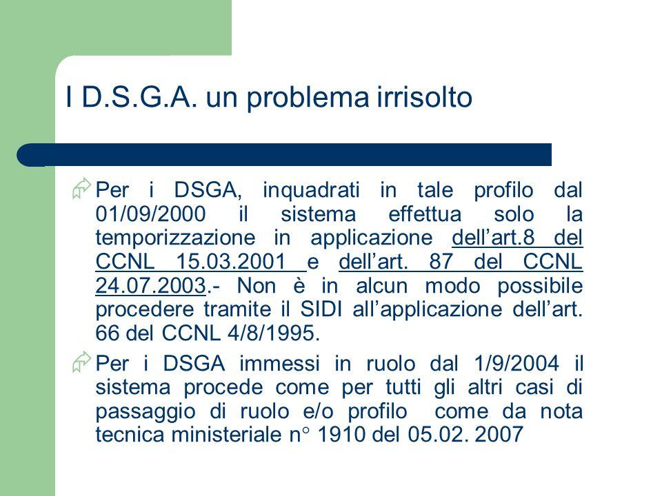 I D.S.G.A. un problema irrisolto