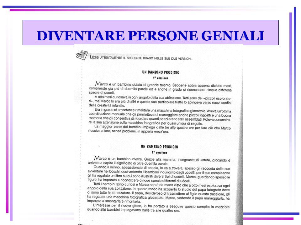 DIVENTARE PERSONE GENIALI
