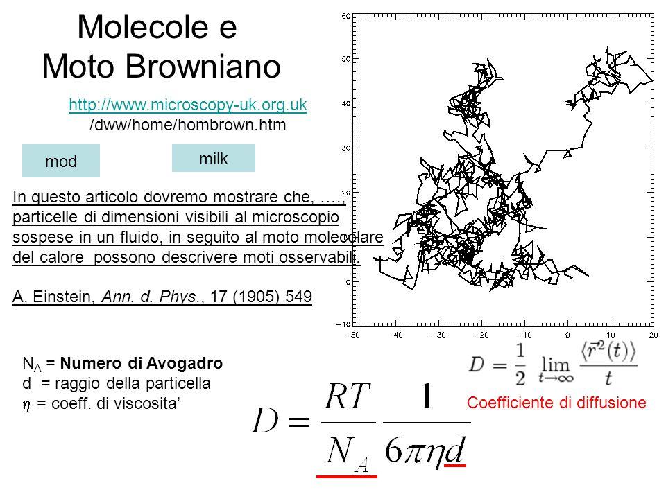 Molecole e Moto Browniano http://www.microscopy-uk.org.uk